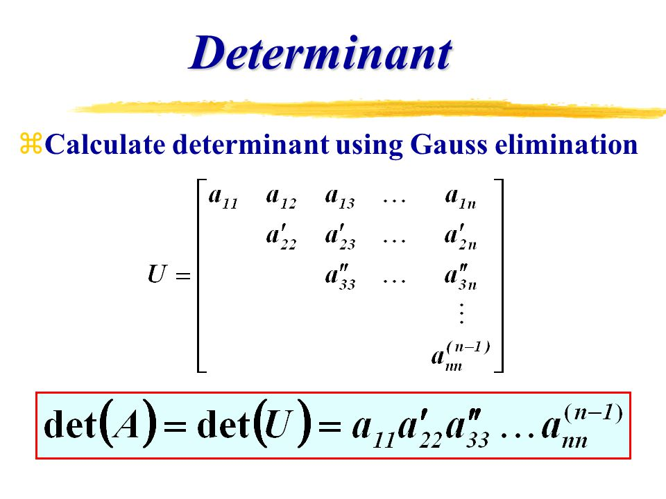 Chapter 9 Gauss Elimination  - ppt video online download