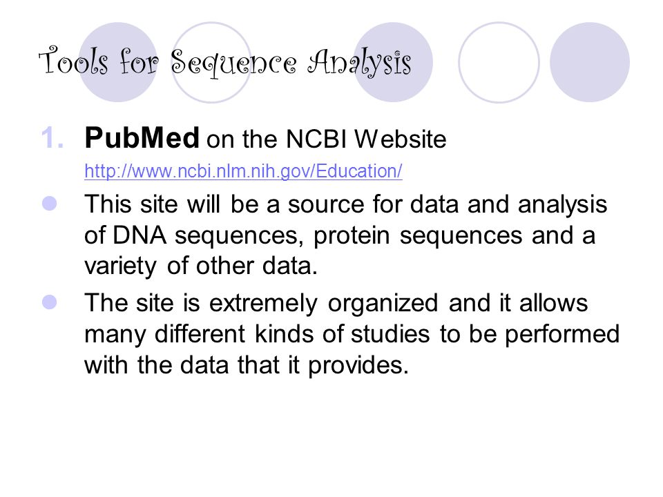 Tools for Sequence Analysis