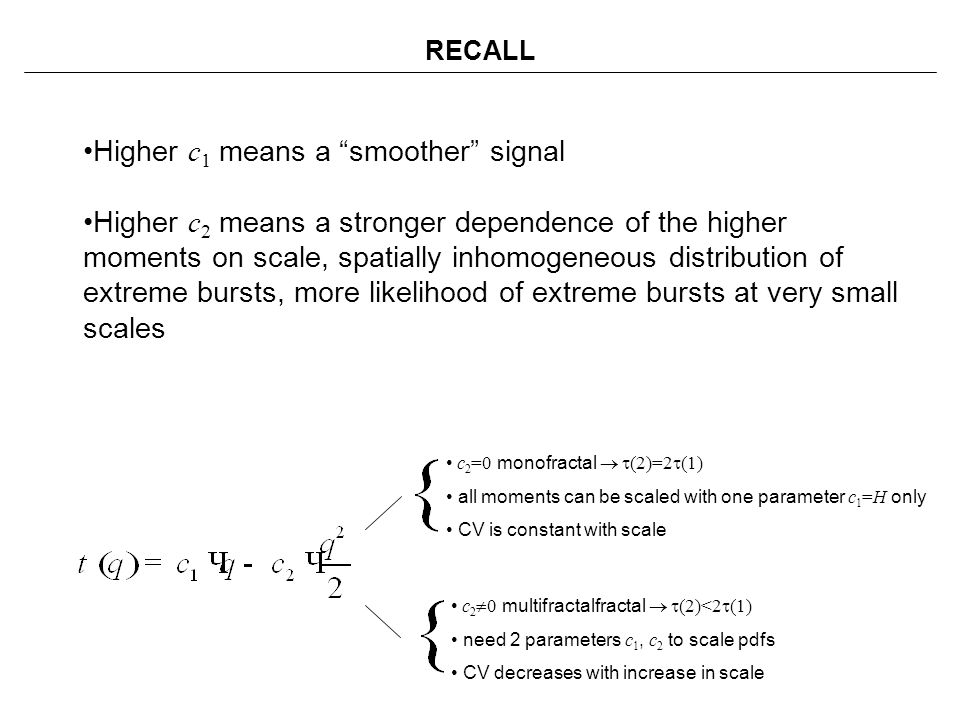 Higher c1 means a smoother signal