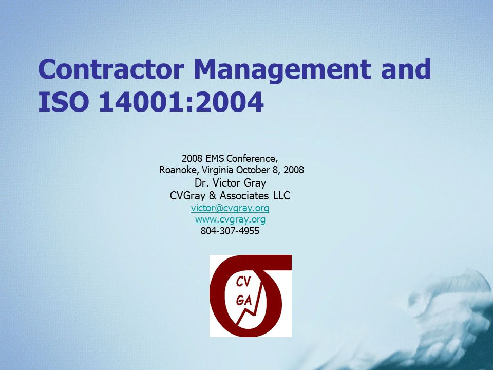 Contractor Management and ISO 14001:2004