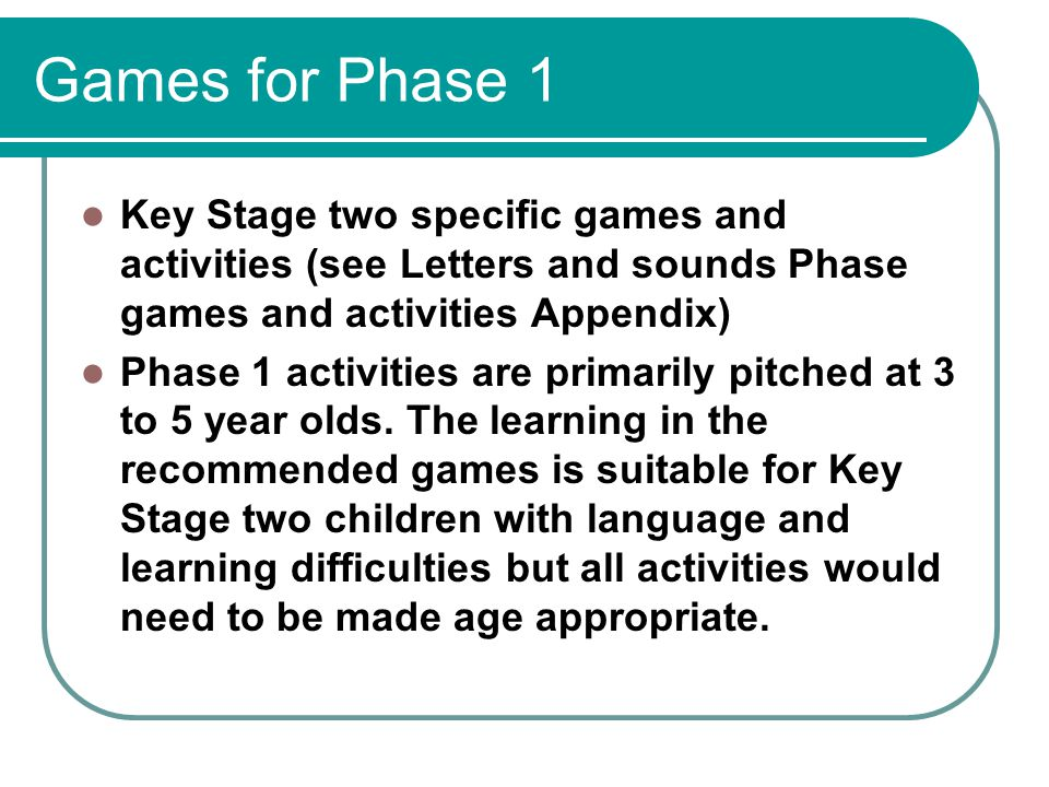 Letters And Sounds Phase  Appendix