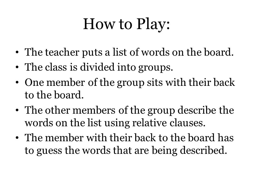 A Grammar Practice Game For Relative Clauses And Defining