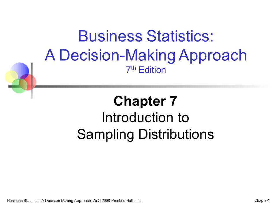 Chapter 7 Introduction to Sampling Distributions