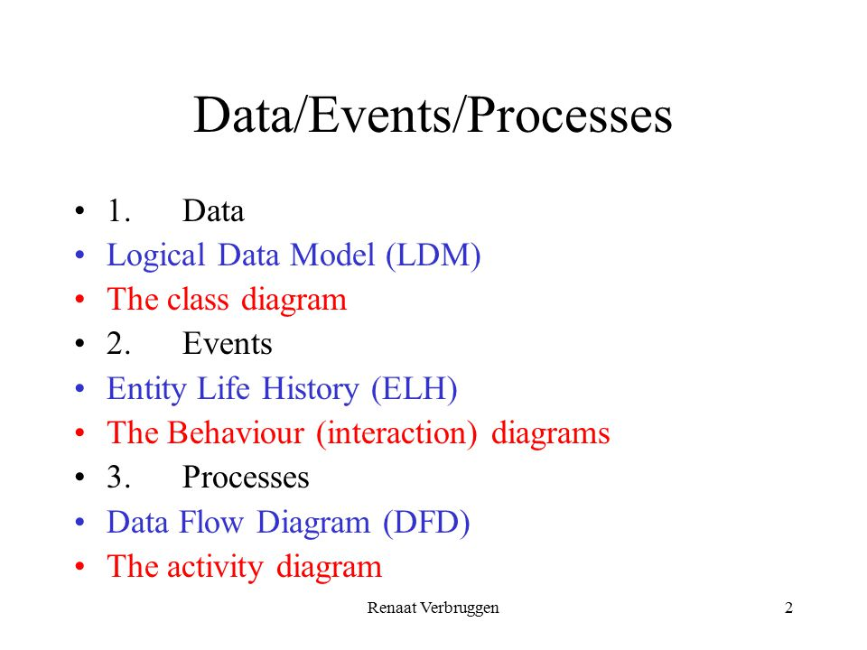 Ssadm vs uml we examine the two methods ssadm and uml ppt video 2 dataeventsprocesses ccuart Image collections