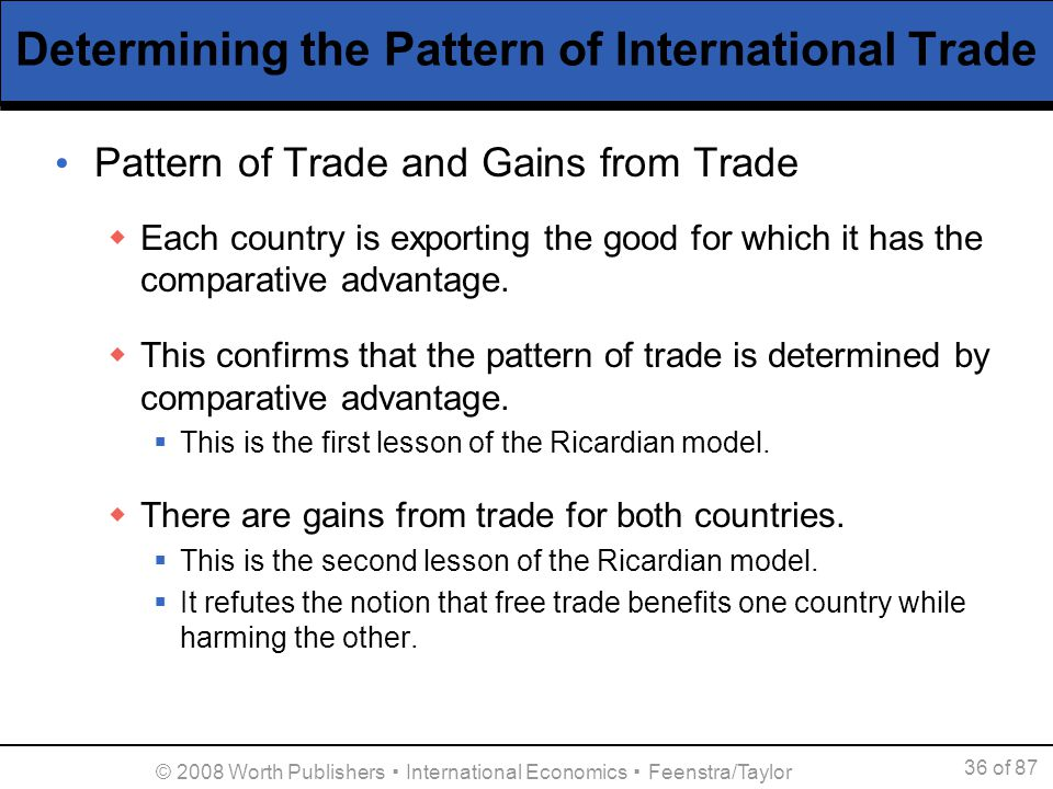 ricardian model of trade example