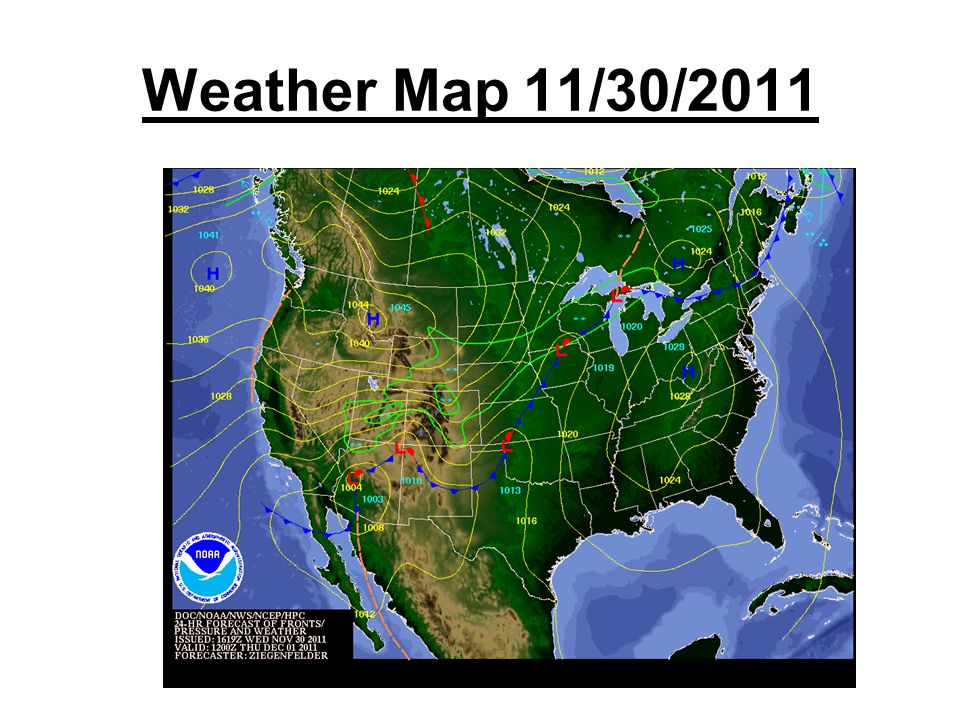 Weather Map 11/30/2011