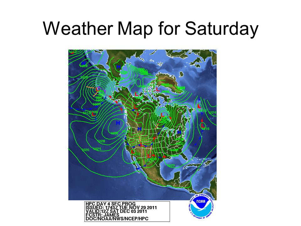 Weather Map for Saturday