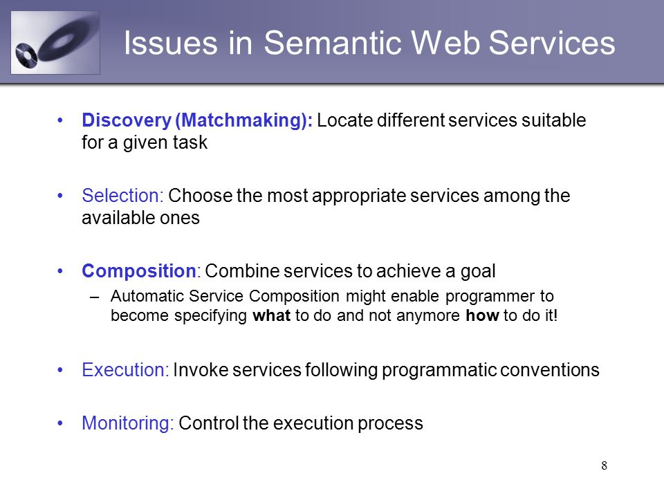 semantic web service composition through a matchmaking of domain