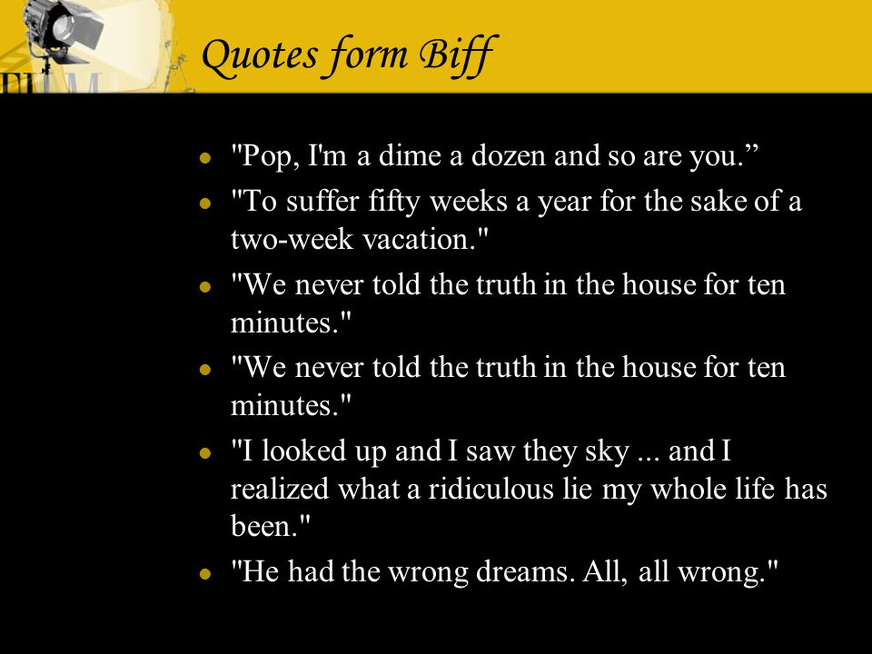 Death Of A Salesman ActⅡ To Be Or Not To Be Success Vs Failure Enchanting Death Of A Salesman Quotes