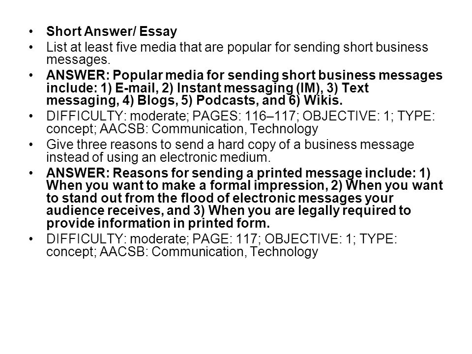 Chapter  Crafting Messages For Electronic Media  Ppt Video Online  Short Answer Essay List At Least Five Media That Are Popular For Sending  Short Business