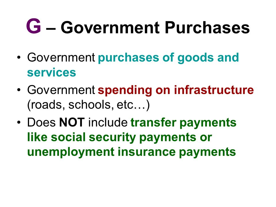 G – Government Purchases