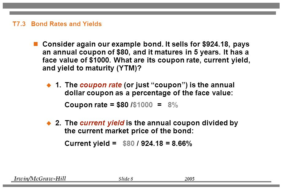 What is Coupon Rate of a Bond?