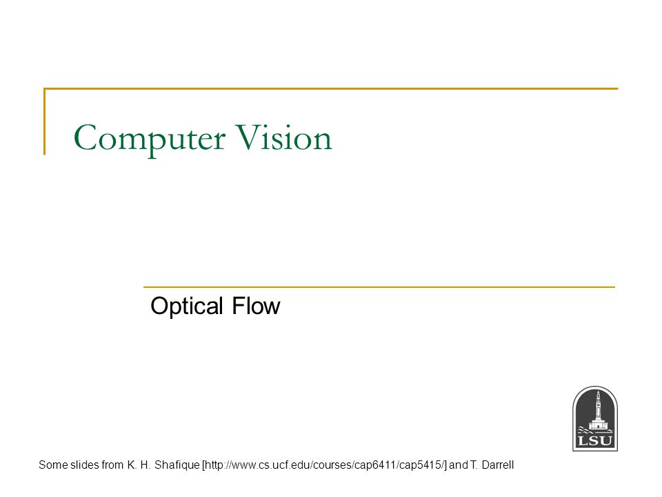 Computer Vision Optical Flow