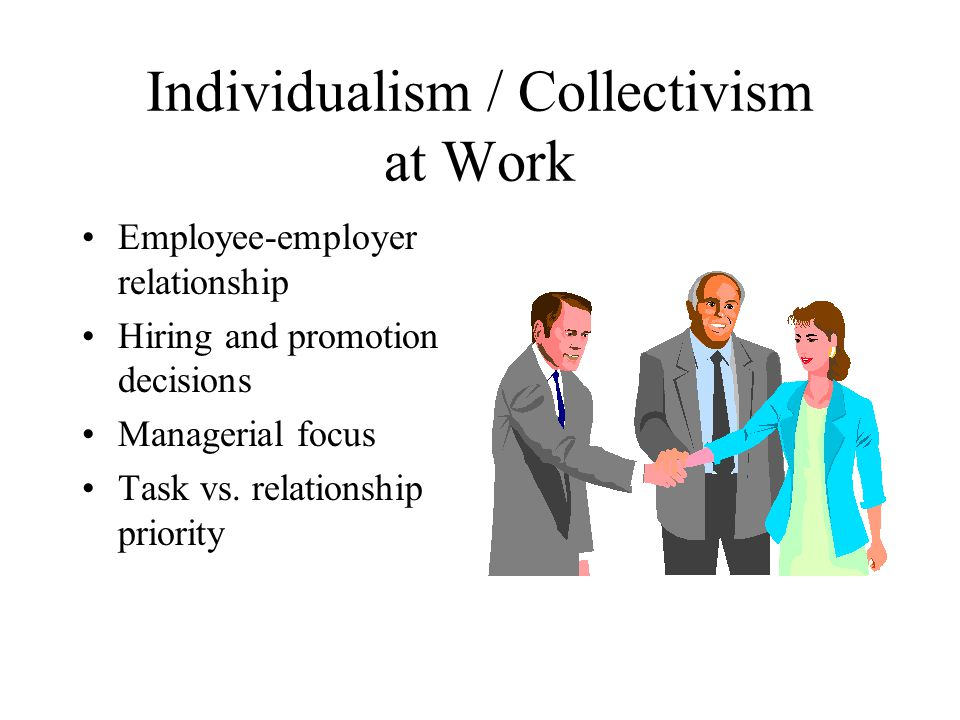 Individualism / Collectivism at Work