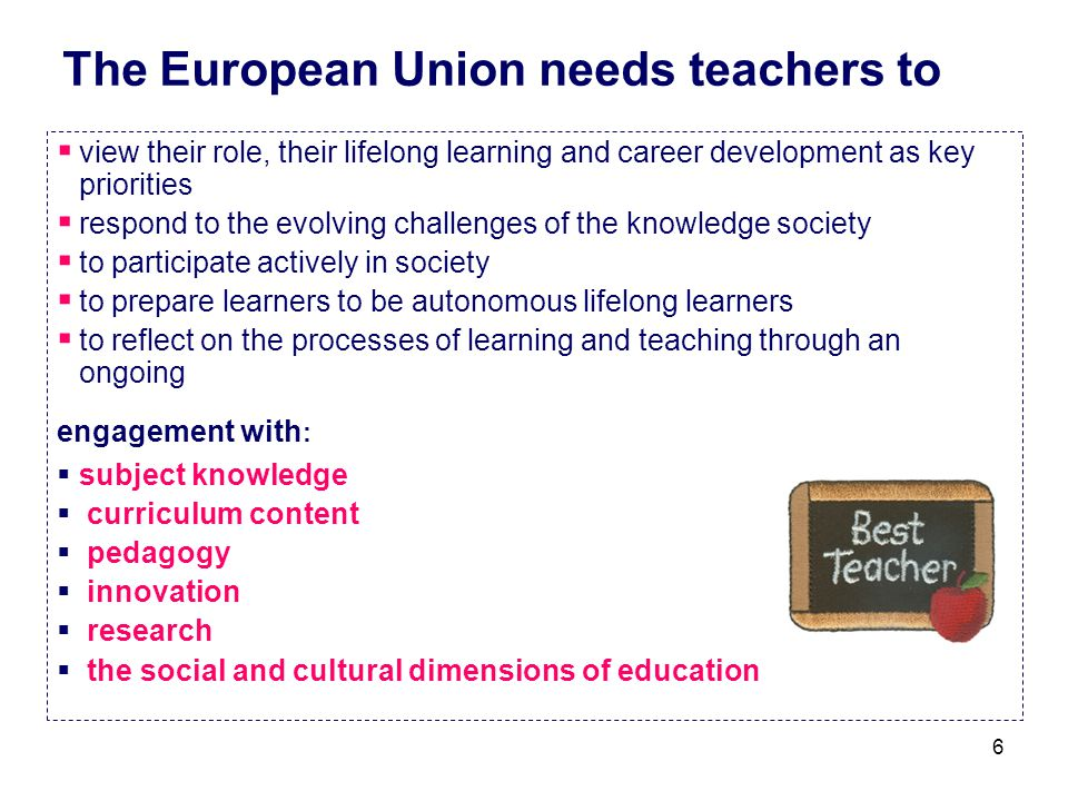 The European Union needs teachers to