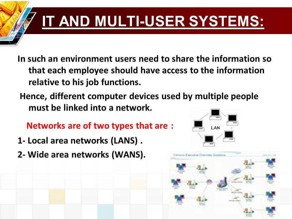 IT AND MULTI-USER SYSTEMS: