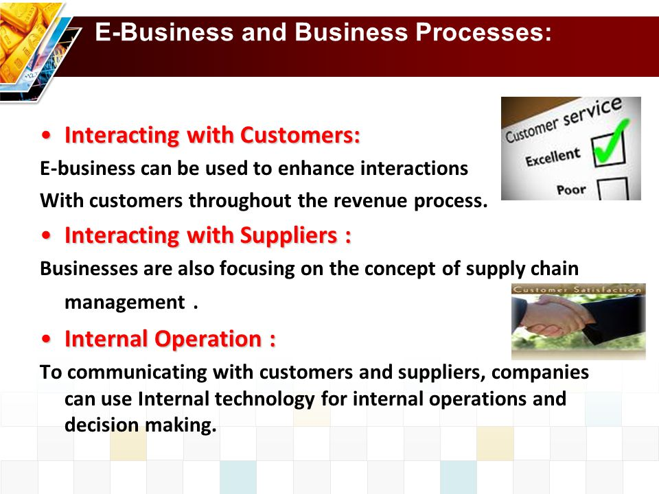 E-Business and Business Processes: