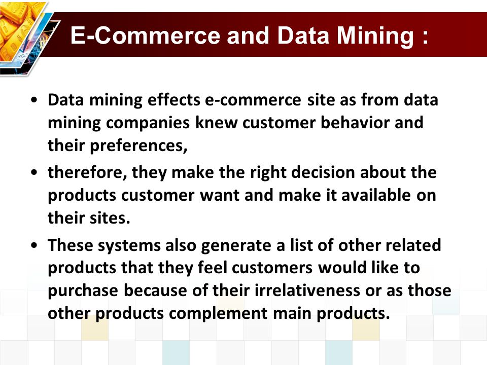 E-Commerce and Data Mining :