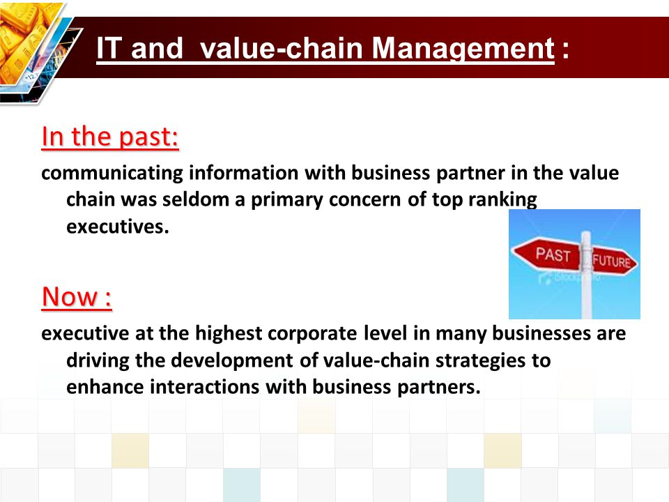 IT and value-chain Management :