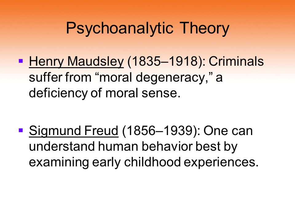 4 how does the psychoanalytic theory from freud explain crime
