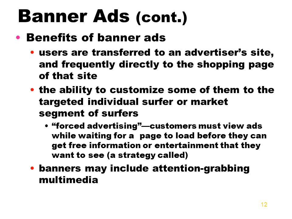 advantages of banner ads