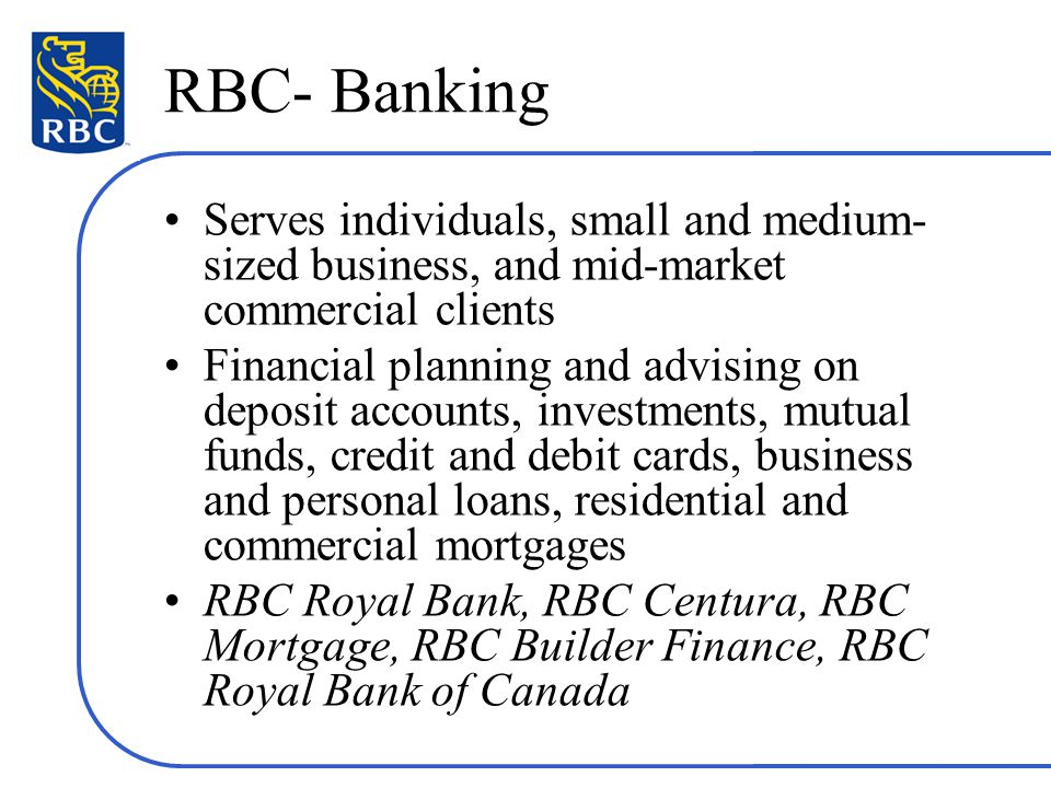 Canadian chartered banks example of rbc ppt video online download 14 rbc cheaphphosting Choice Image