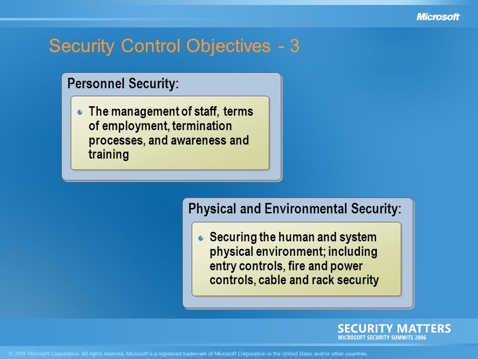 Security Control Objectives - 3