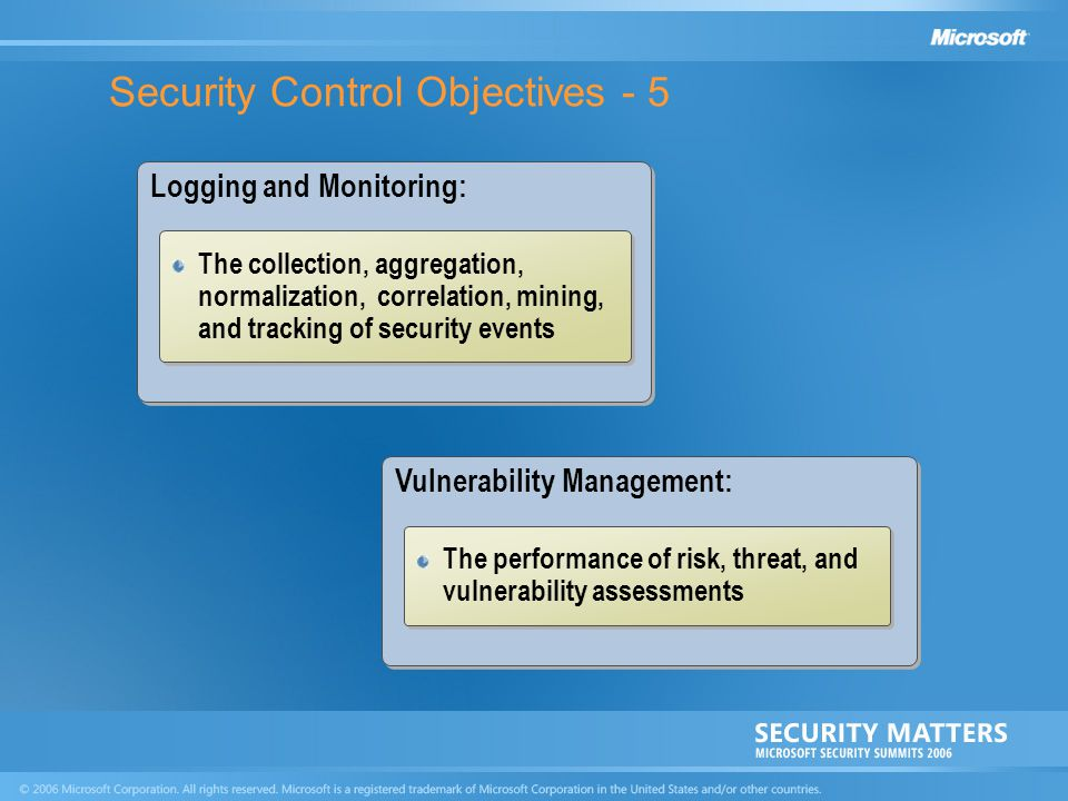 Security Control Objectives - 5