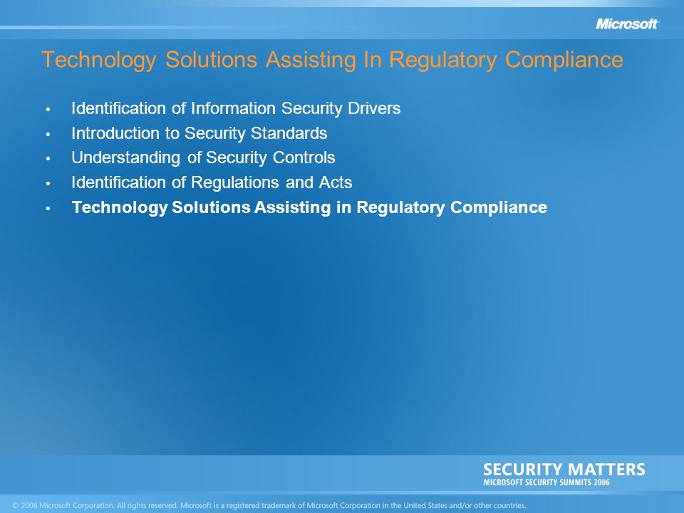 Technology Solutions Assisting In Regulatory Compliance