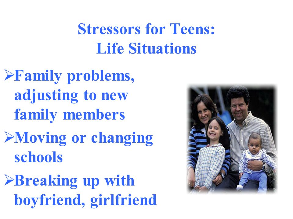 Stressors for Teens: Life Situations