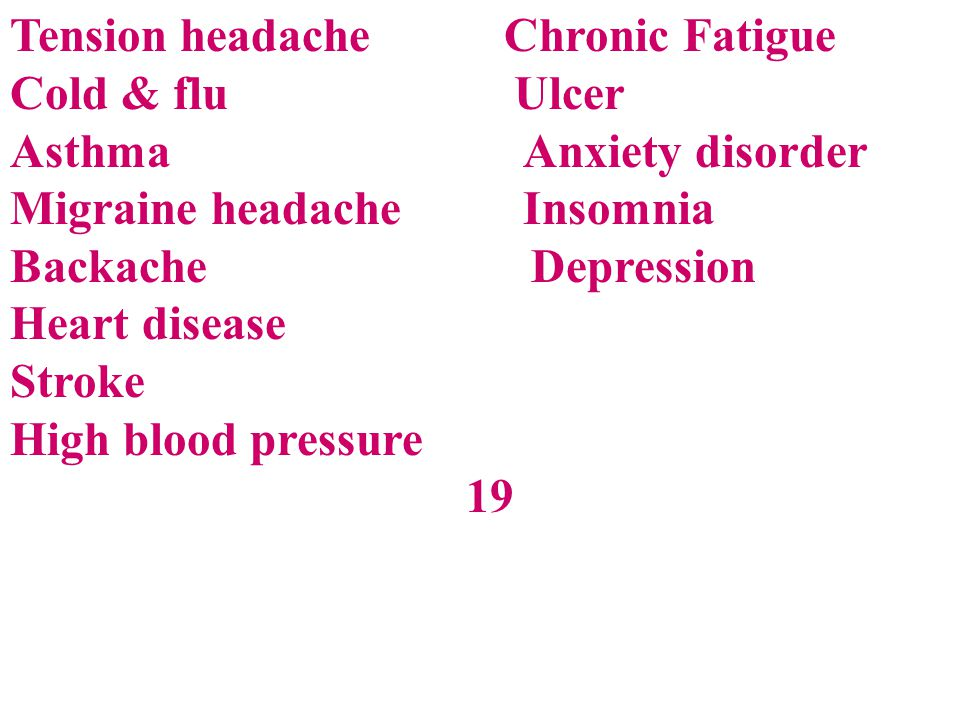 Tension headache Chronic Fatigue
