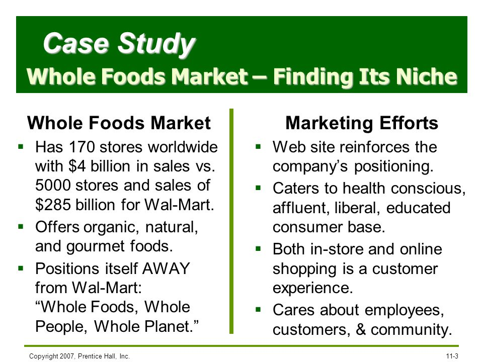 Whole Foods Market – Finding Its Niche