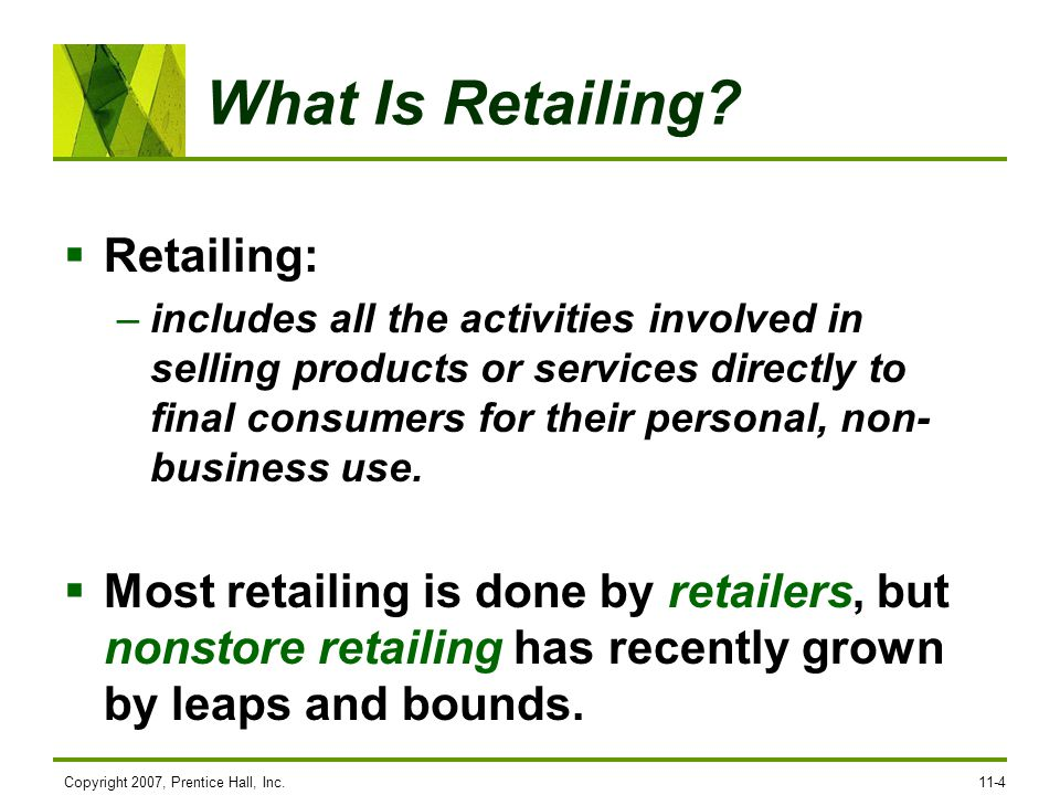 What Is Retailing Retailing: