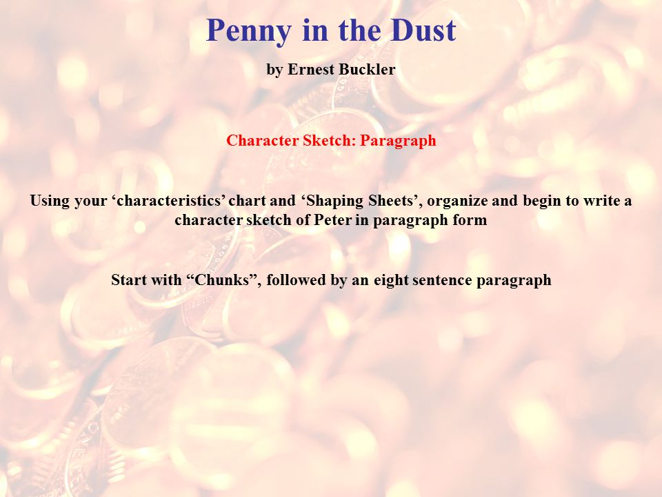 penny in the dust by ernest buckler