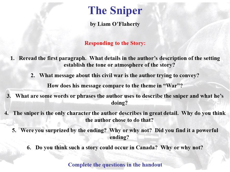 the sniper short story analysis
