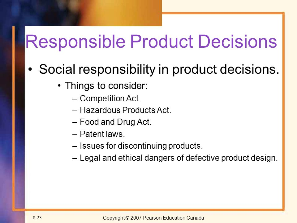 Responsible Product Decisions