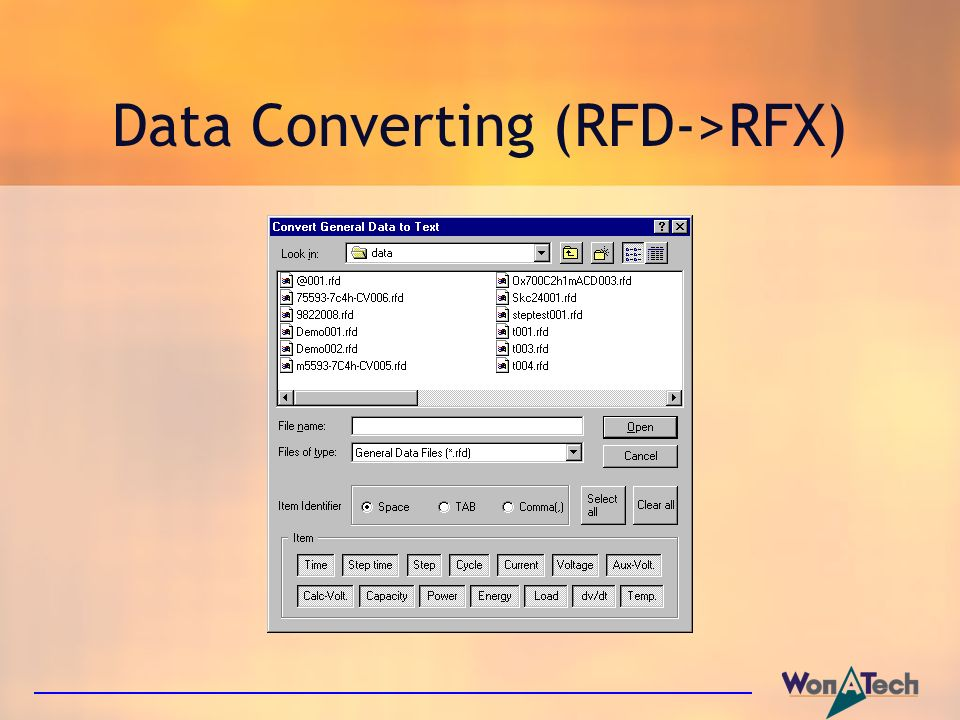 Data Converting (RFD->RFX)