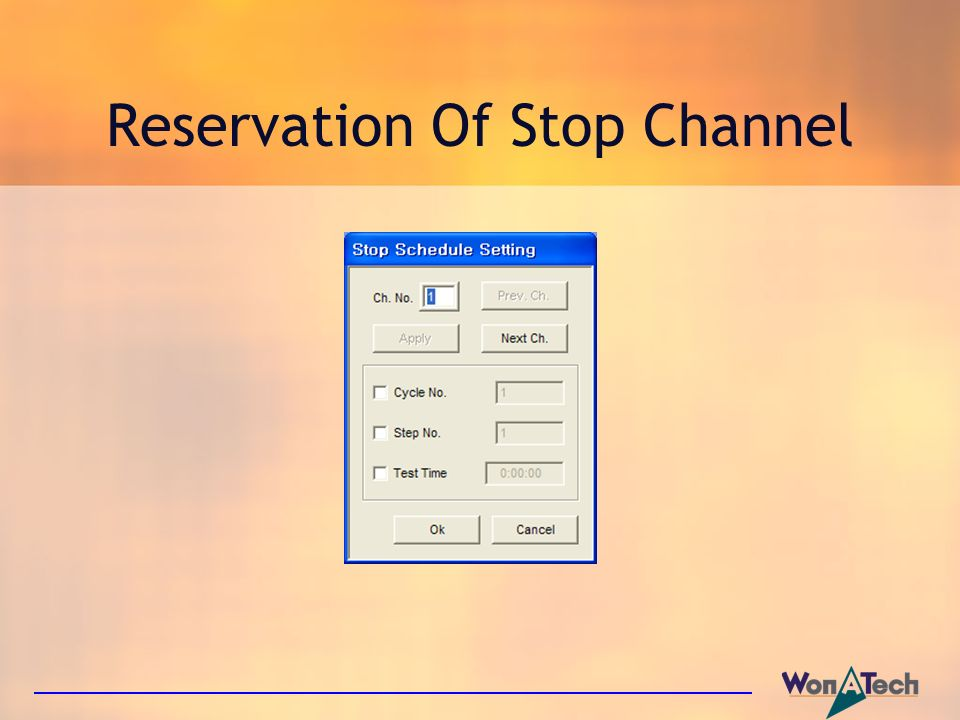 Reservation Of Stop Channel