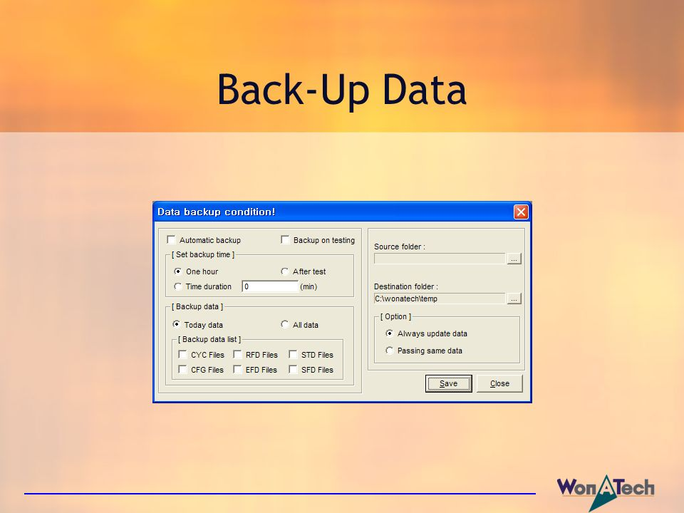 Back-Up Data