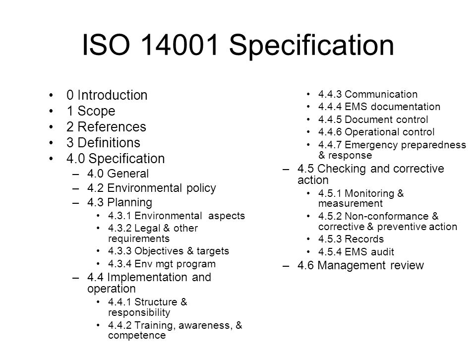 ISO Specification 0 Introduction 1 Scope 2 References