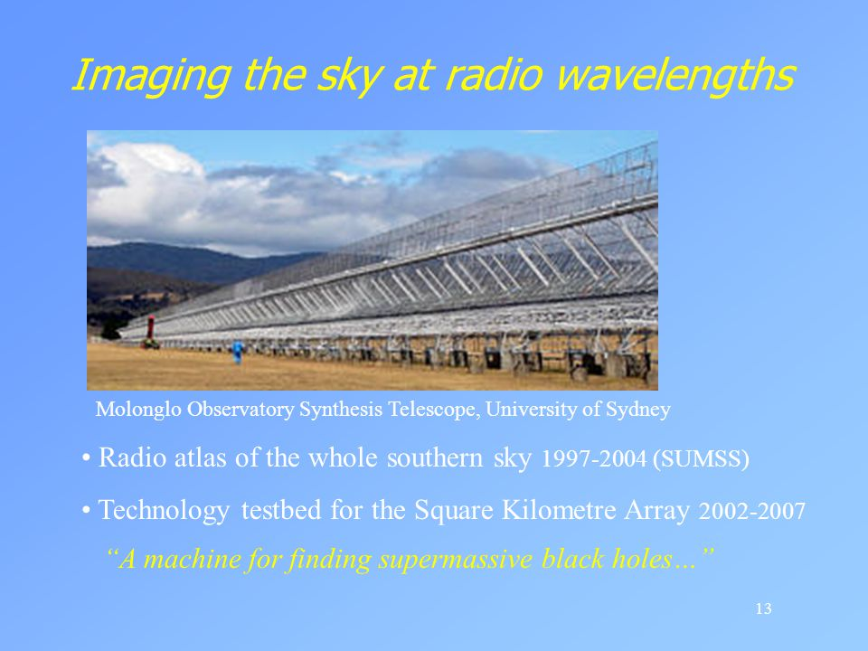 Imaging the sky at radio wavelengths