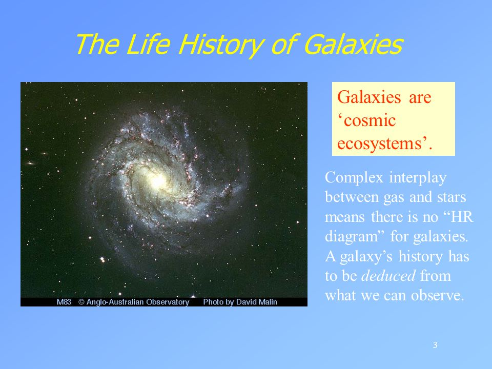The Life History of Galaxies
