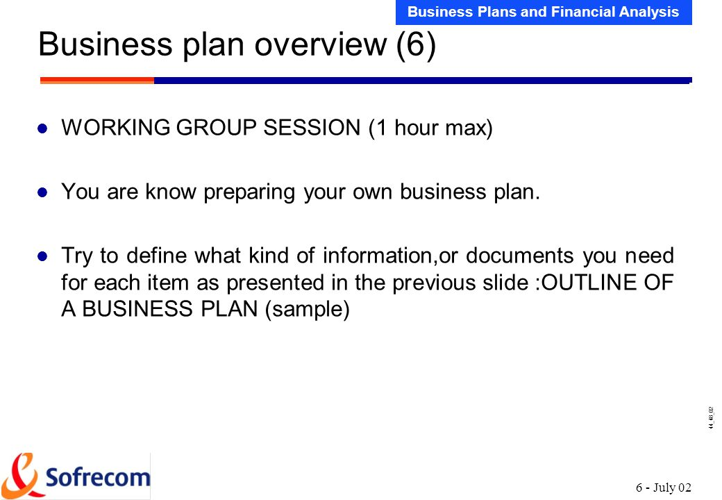 business plan overview 1 ppt download