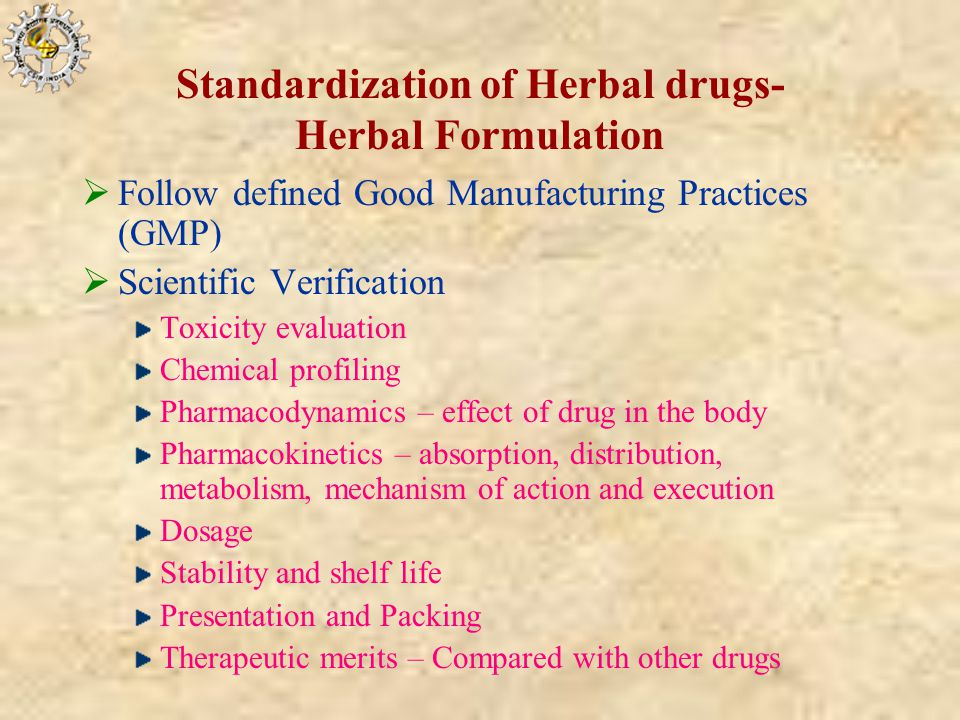 Quality Control Standardization Of Herbal Drugs Ppt