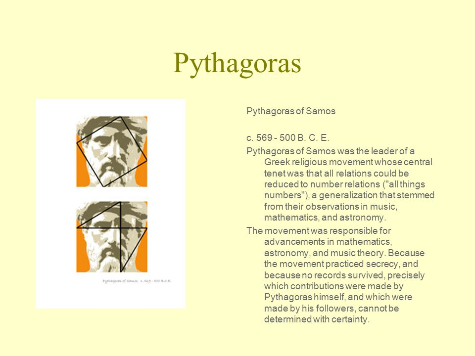 pythagoras achievements