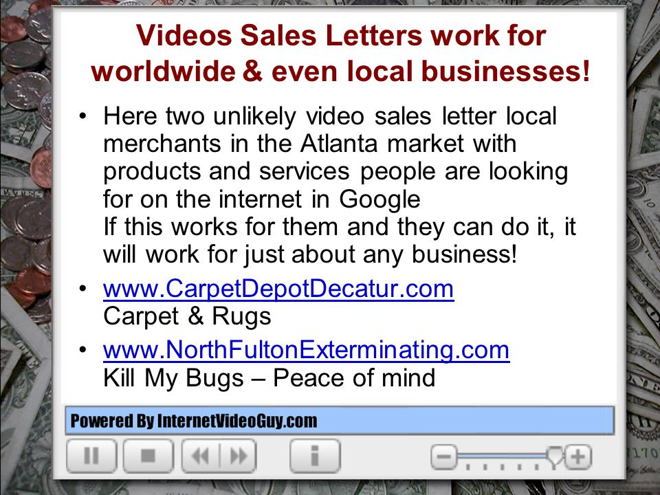 The Video Sales Letter Online In Business In 15 Minutes Ppt Video
