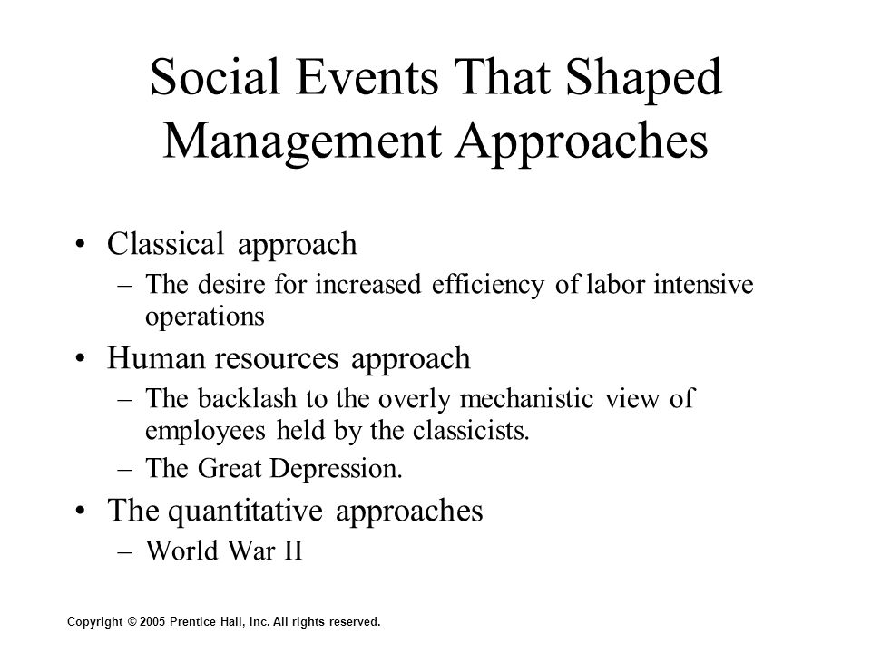 Social Events That Shaped Management Approaches