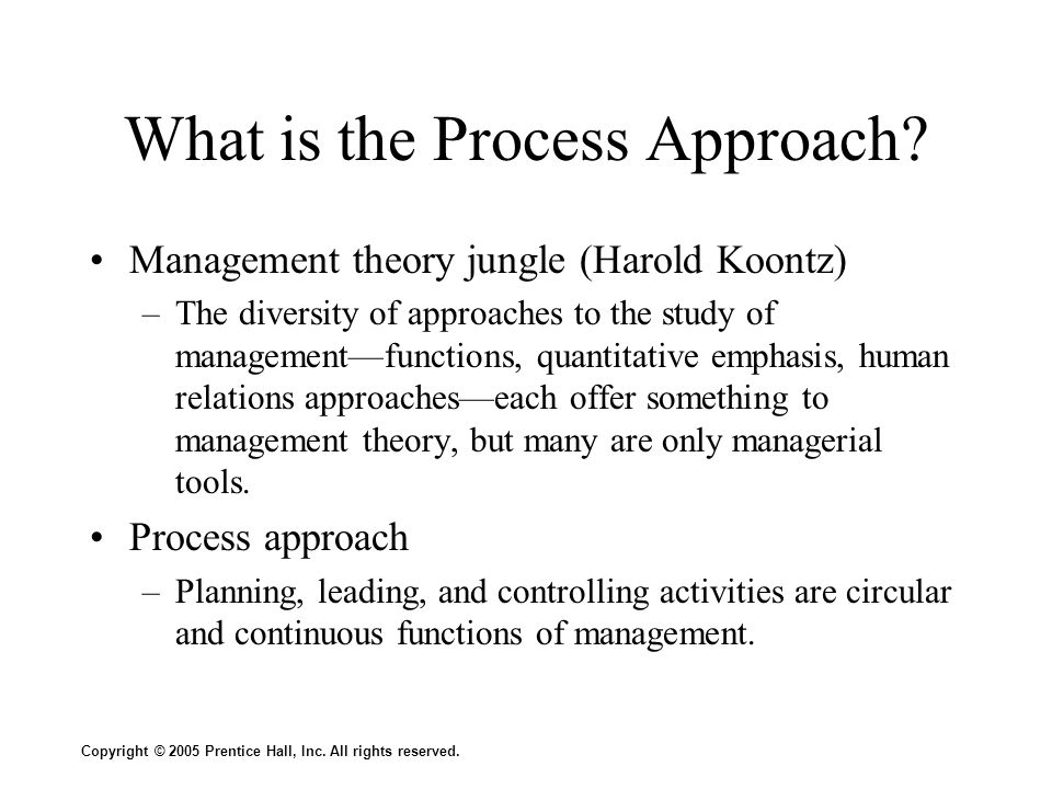 What is the Process Approach