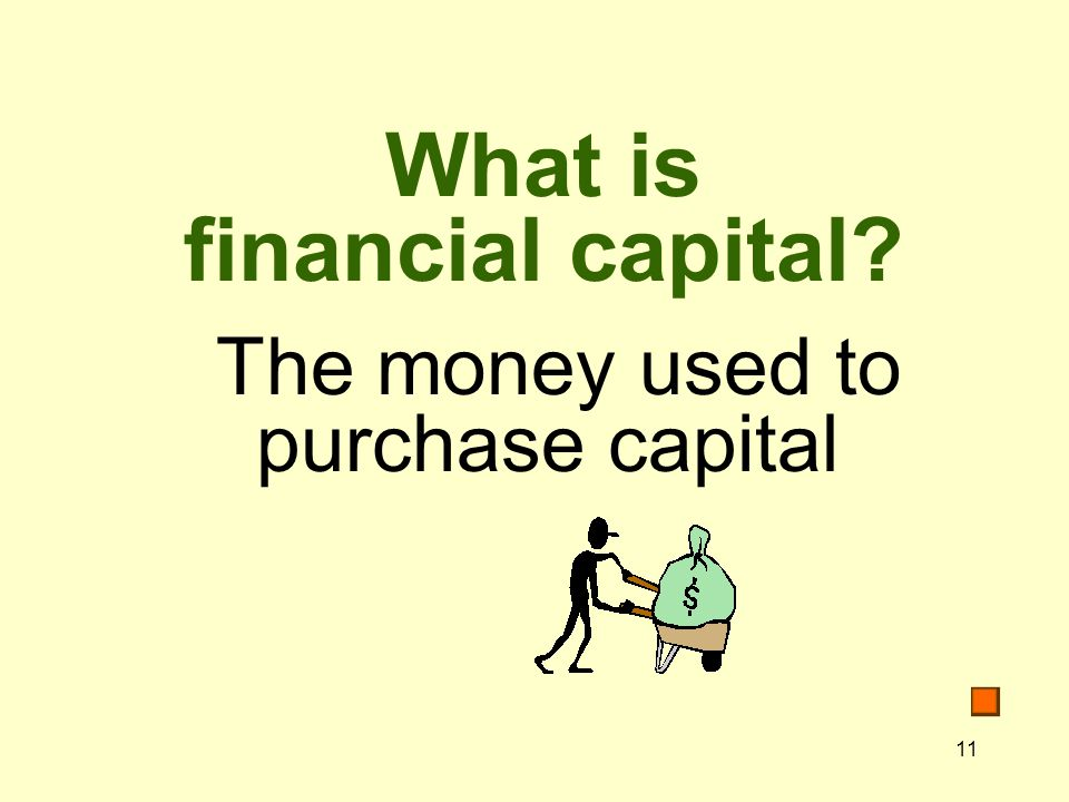 What is financial capital