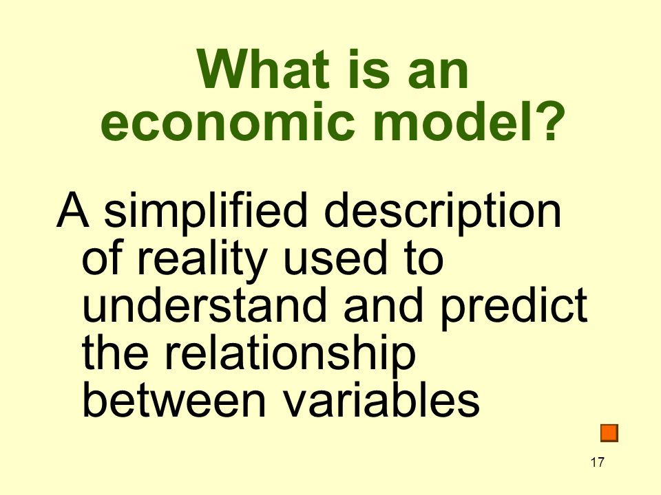 What is an economic model